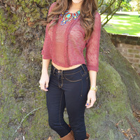 Just Like Home Top: Burgundy