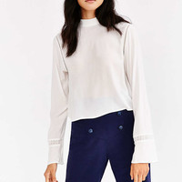 Silence + Noise Modern Mock-Neck Blouse - Urban Outfitters