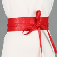 Soft Leather Bowknot Body Shaping Wide Belts