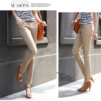 Fashion Spring Summer Women Pants Slim Casual Skinny Pants Elegant Plus Size Vintage Pencil Pants Women