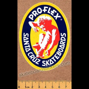 Santa Cruz Old School Skateboard Sticker - Powerflex