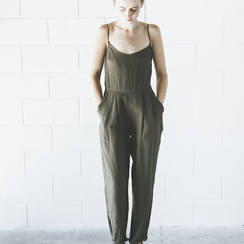 Objects Without Meaning - Amber Jumpsuit in Olive