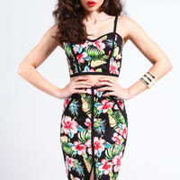 TROPICAL OUTLINED BUSTIER