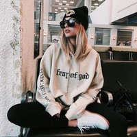 Thicken Hats Korean Pullover Print Hoodies [184203214874]