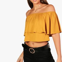 Tall Lily Frill Crop Top | Boohoo
