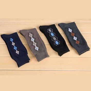 4 Pair Deco Argyle Socks