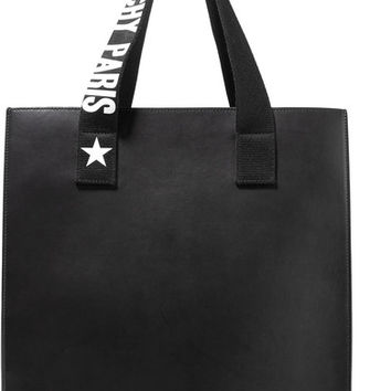 Givenchy - Stargaze printed canvas-trimmed leather tote