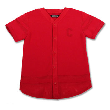 Courtesy Of Elias Baseball Jersey Red