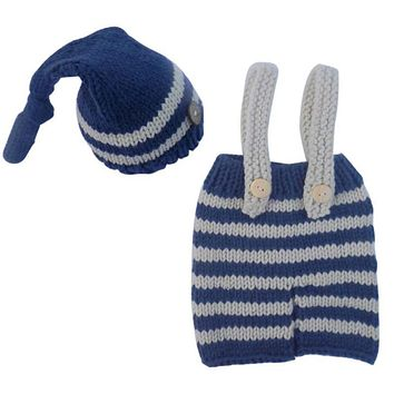 Newborn Baby Photography Props Girls Boys Crochet Knit Costume Photo Baby Clothes Hat