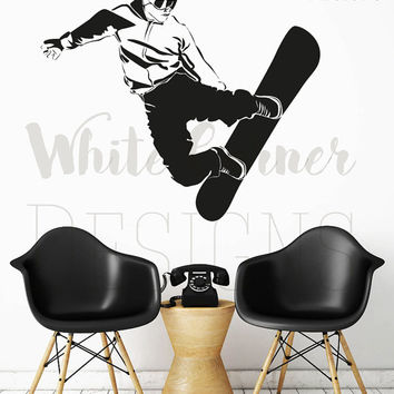 rta232 Snowboarding Playroom Game Kids Children Fun Sport  Living room Bedroom Wall Decal Vinyl Sticker Decals Art Decor Design