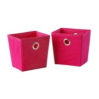 Essential Home Mini Grommet Bin 2 pack - Magenta - Home - Storage & Organization - Closet Storage - Baskets, Bins & Crates