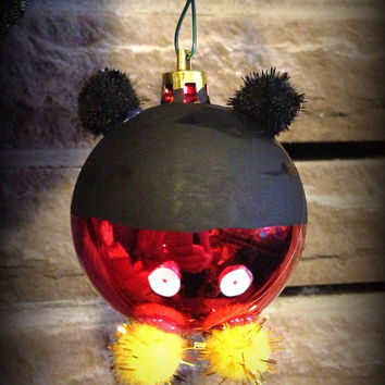 Mickey & Minnie mouse couple ornaments by DakotahLeighs on Etsy