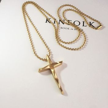 Trendy Simple Cross Pendant Necklace for Men & Women