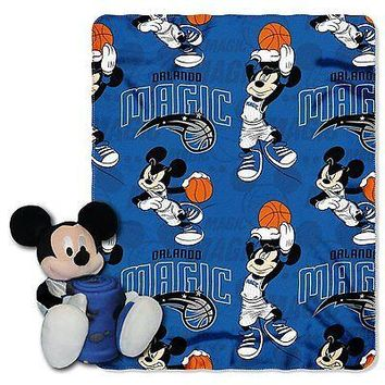 Orlando Magic NBA Mickey Mouse Throw and Hugger Pillow Set