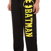 Hot Topic Men's Dc Comics Batman Pajama Pants