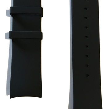Movado EDGE Black Rubber 22mm Watch Band Strap with Buckle