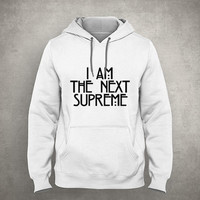 I am the next supreme - Gray/White Unisex Hoodie - HOODIE-067