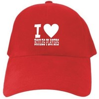 I LOVE Boules Players Red Baseball Cap Unisex