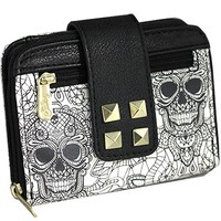 "Women's ""Logo Two Tone"" Wallet by Sullen Clothing (White/Black)"