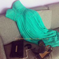 Chic Green chiffon dresses/Graduation Dresses from Girls Dress