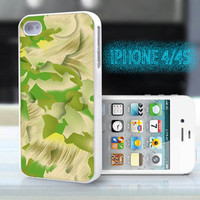 unique iphone case,glitter i phone 4 4s case,cool cute iphone4 iphone4s case,stylish  plastic rubber cases, green yellow geometric, bp913