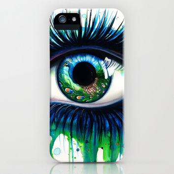 -The peacock- iPhone & iPod Case by PeeGeeArts