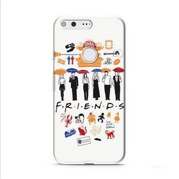 FRIENDS Collage Drawing Google Pixel XL 2 Case