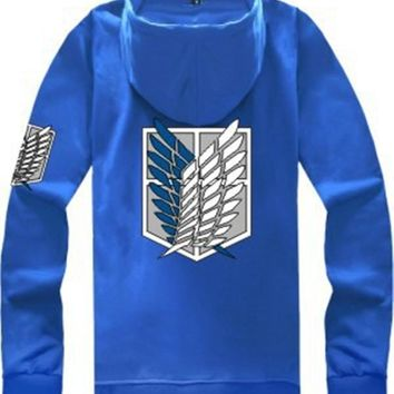 Cosplay costume Men's attack on titan shingeki no kyojin investigation hoodies sweatshirt anime Calual clothes Jacket women