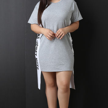 Make Money Move Ribbon Side Tunic Dress | UrbanOG
