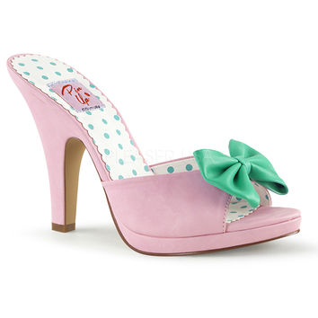 Pin Up Couture Pink Siren Platform Slide Heel