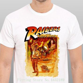 Indiana Jones Raiders Of The Lost Ark Vintage Movie Art T Shirt Size : S - To - Xxl Men New High Quality