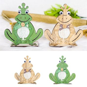 Easter Decorations Wooden Toad Shapes Ornaments Craft Gifts
