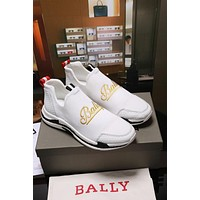 Bally Winston Men's White Calf Trainer Sneakers Shoes - Sale