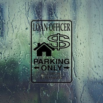 Laon Officer Parking Only Sign Vinyl Outdoor Decal (Permanent Sticker)