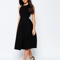 ASOS | ASOS Midi Skater Dress With Cross Back at ASOS