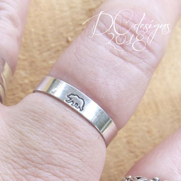 Nature Ring, Sterling Silver Ring, Engraved Ring, Custom Ring, Personalized Ring, Personalised Gift, Sterling Silver Rings for Women