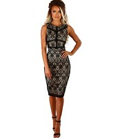 Women Midi Pencil Dress