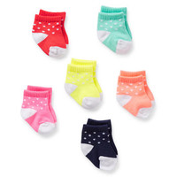 6-pack bright baby socks