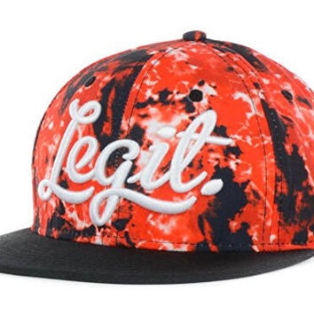 Neff Legit Tie Dye Snapback Hat Cap Adjustable Red Black