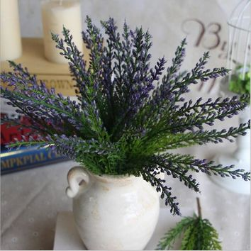 Hight Quality Plastic Unkillable Artificial Green Bristlegrass Herb Plant FLoral Leaves Home Table Decorative