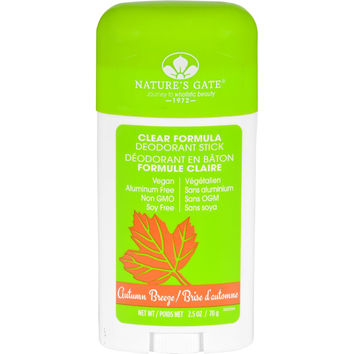 Natures Gate Deodorant - Stick - Clear Formula - Autumn Breeze - 2.5 Oz