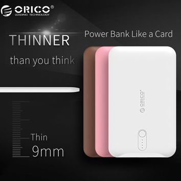 ORICO Power Bank 2500mAh Scharge Polymer Power Bank Power Battery External Universal Charger for Cellphone