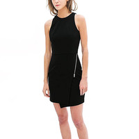 Black Sheath Dress with Zip detail