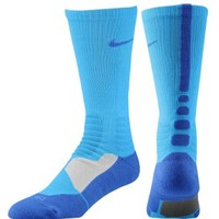 NIKE Hyper Elite Basketball Crew Socks - L - Blue Hero/Game Royal