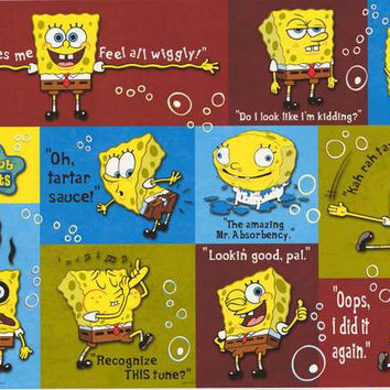 Spongebob Squarepants Quotes Poster 22x34