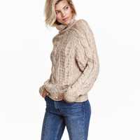 H&M Cable-knit Turtleneck Sweater $19.99