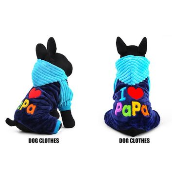 Fashion Winter Coral Velvet Pet Dog Clothes Small Large Dog Coat Jackets for Chihuahua Teddy E2S