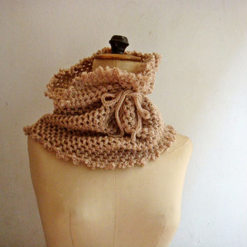 PDF Pattern Crochet Cowl Neck Warmer, Circle Scarf, Snood, 250