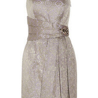 Kay Unger One-shoulder brocade dress - 70% Off Now at THE OUTNET