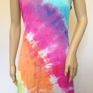 Tie Dye Dress, Bohemian, Hippie Dress, Summer Dress